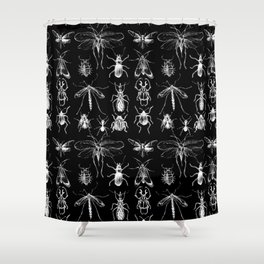Collecting negative bugs Shower Curtain