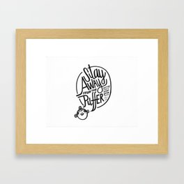 Puffer Warning Framed Art Print