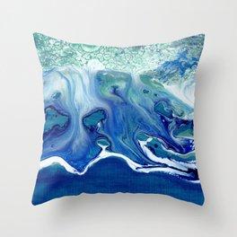 Melting Waves Throw Pillow