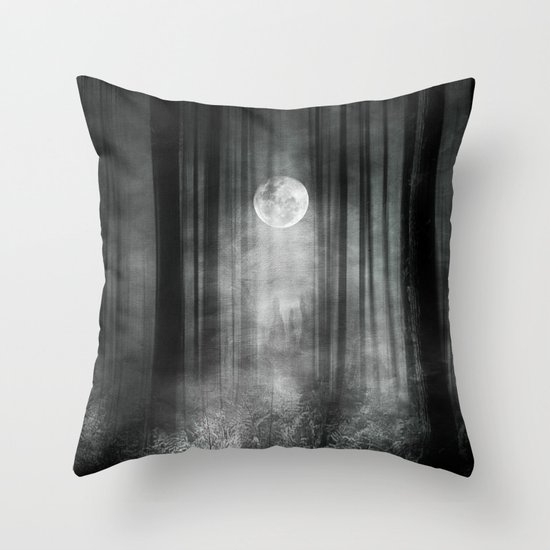 Dark Throw Pillow