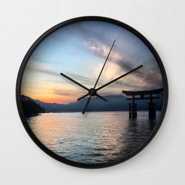 miyajima island views Wall Clock