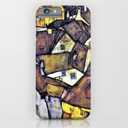 12,000pixel-500dpi - Egon Schiele - Krumau - Crescent of Houses, The Small City V - Digital Remaster iPhone Case