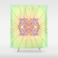 scales Shower Curtains featuring scales by BobbyK
