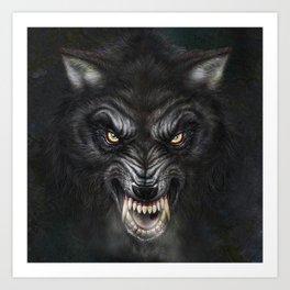 Dark Wolf Art Print