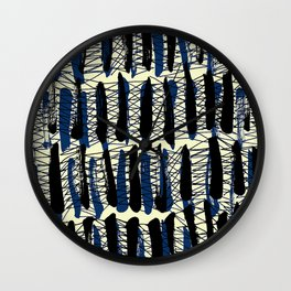 Blue Criss Cross - Sarah Bagshaw Wall Clock