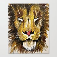 the lion king Canvas Prints featuring Lion King by Chris Knight