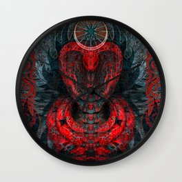 Seen Through Flames and Ashes Wall Clock