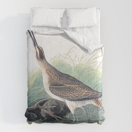 Hudsonian curlew, Birds of America, Audubon Plate 237 Comforters