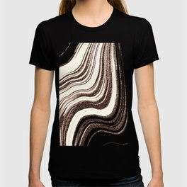 Textured Marble - Brown & Cream T-shirt