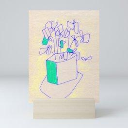 Cartoon Flower, Planter 2 Mini Art Print