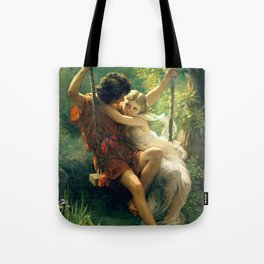 Spring by Pierre Auguste Cot Tote Bag