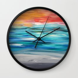 Seascape #5 Wall Clock