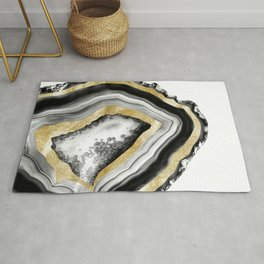 Agate Gold Foil Glam #1 #gem #decor #art #society6 Rug