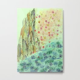 Rock of Fallen Blossoms Metal Print