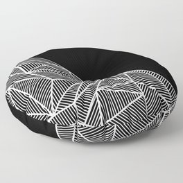 B Rays Geo BW Floor Pillow