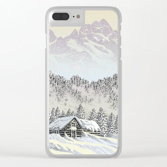 SNOWED IN PEN DRAWING COLOR VERSION Clear iPhone Case