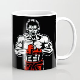 fighter mascot fighter pose ready to fighting Coffee Mug
