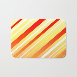 Sunshine Sideways Stripy Bath Mat