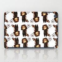 bucky iPad Cases featuring raccoon!bucky v.2 by zombietonbo