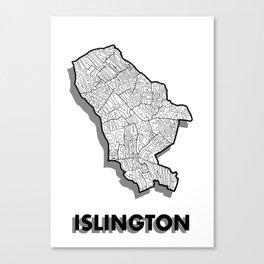Islington - London Borough - Detailed Canvas Print