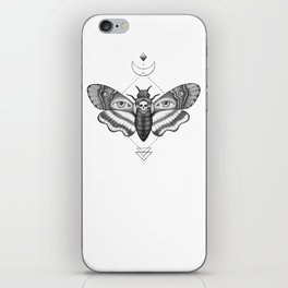 Dotwork Death's-Head Hawkmoth iPhone Skin