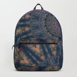 Delicate Navy Blue Bohemian Mandala Backpack