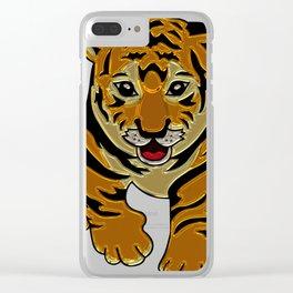 Tiger cub 1 Clear iPhone Case