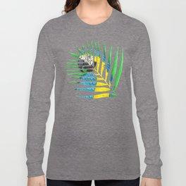 Parrot Palm Leaf Long Sleeve T-shirt