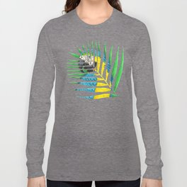 Parrot Palm Leaf Long Sleeve T-shirt