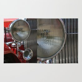 Vintage Car Headlight & Horn Rug
