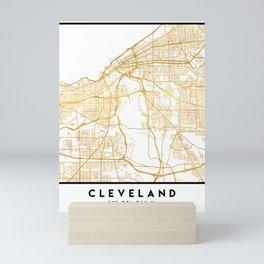 CLEVELAND OHIO CITY STREET MAP ART Mini Art Print