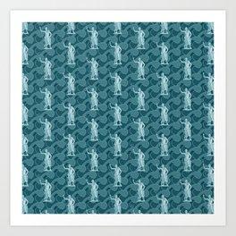 Poseidon OCEAN BREEZE / All hail the god of the sea Art Print