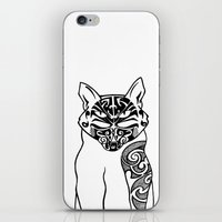 maori iPhone & iPod Skins featuring Maori Kitty by Sofy Rahman
