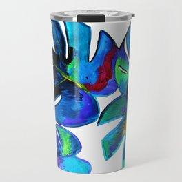 Monstera art Travel Mug