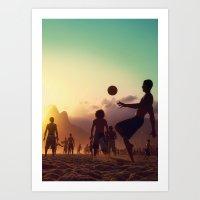 brasil Art Prints featuring Brasil by afzucatti
