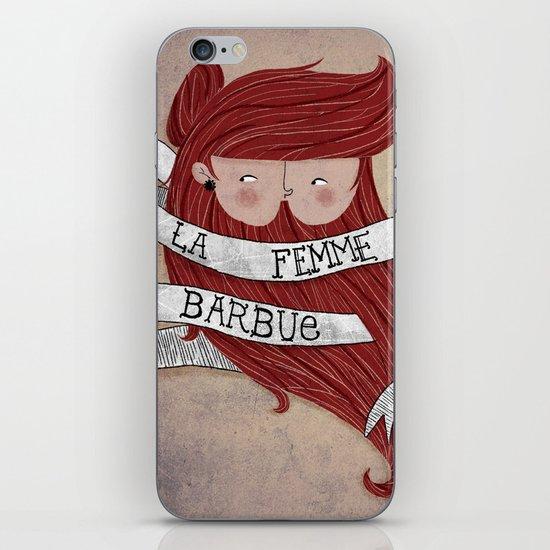 Bearded woman iPhone Skin