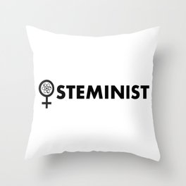 Steminist with symbol Throw Pillow