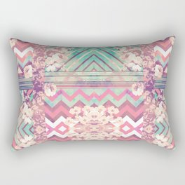 Floral Mirror Rectangular Pillow