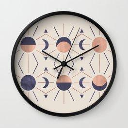 Moon and Light Rosè Version Wall Clock