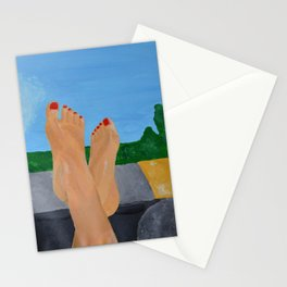'Death Proof' inspired painting Stationery Cards