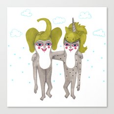 friends with costumes Canvas Print