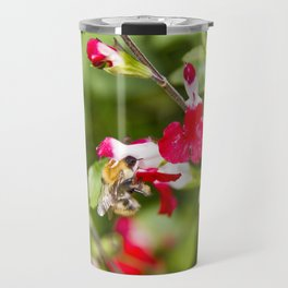 Busy bee in the flowers Travel Mug