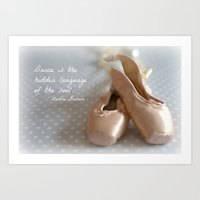ballet Art Prints featuring Ballet by DuniStudioDesign