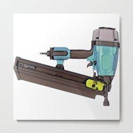 Pneumatic Nailer Nail Gun Drive Wall Hole Deep Metal Print