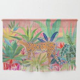 Leopard in Succulent Garden Wall Hanging