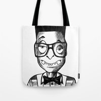 swag Tote Bags featuring Nerd Swag by DeMoose_Art