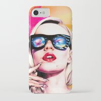 iggy azalea iPhone & iPod Cases featuring Iggy Azalea- Orange/Pink by Tiffany Taimoorazy