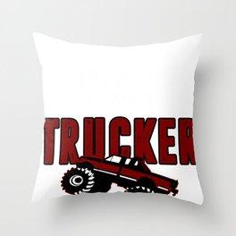 Trucker Trust Street Driver Monster Route Gift Throw Pillow