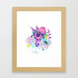 I wanna be a Unicorn Pattern Framed Art Print