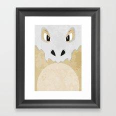 Minimalist Cubone Framed Art Print